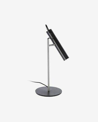 Lámpara de sobremesa Maude de metal con acabado negro