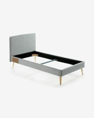 Funda cama Dyla gris 90 x 190 cm
