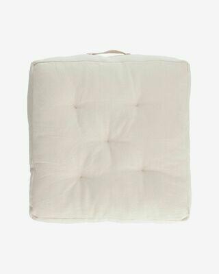 Cojín para suelo Sarit 100% algodón blanco 60 x 60 cm
