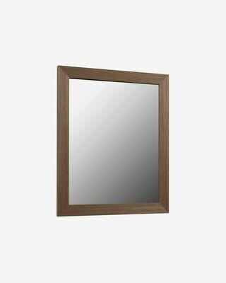 Espejo Nerina 47 x 57,5 cm con acabado nogal