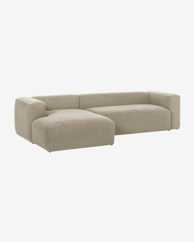 Sofá Blok 3 plazas chaise longue izquierdo beige 300 cm