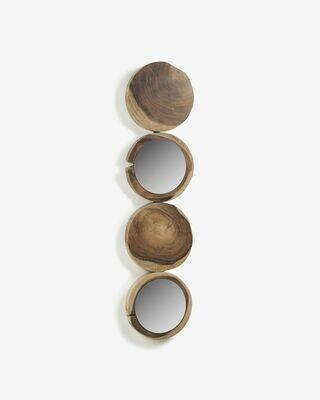 Espejo Essie de madera maciza de campano 34 x 134 cm