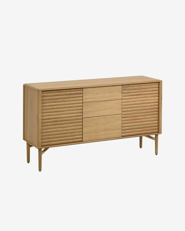 Aparador Lenon 152 x 86 cm de madera maciza y chapa de roble FSC MIX Credit