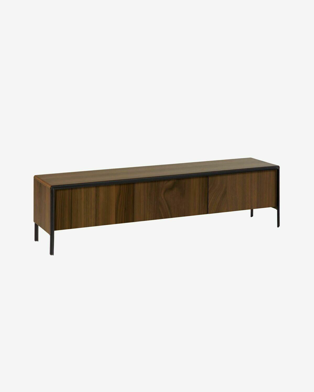 Mueble TV Nadyria 180 x 50 cm con chapa de nogal