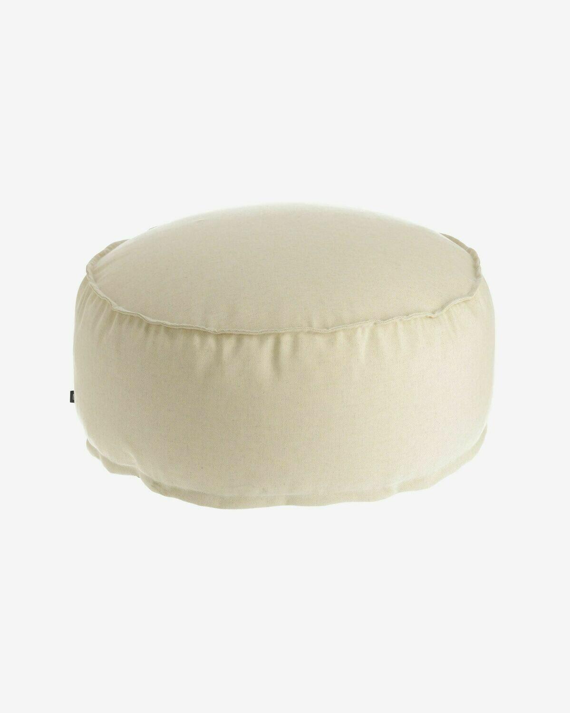 Puf redondo Nedra Ø 70 cm blanco