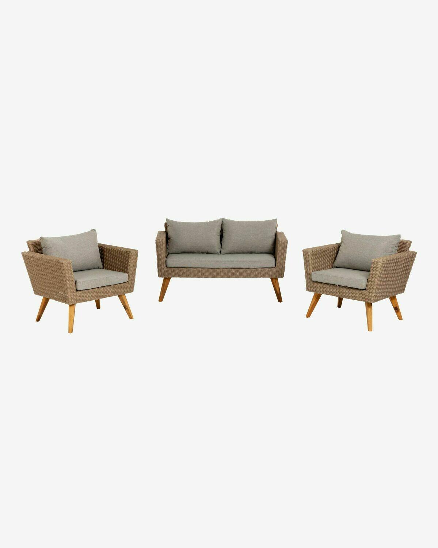 Set Sumie de sofá y 2 butacas FSC 100%