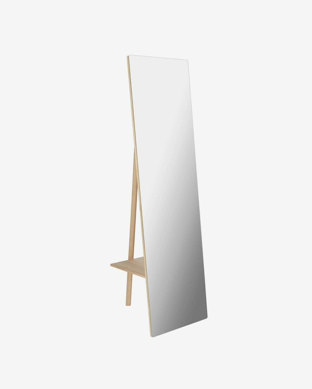 Espejo perchero de pie Keisy madera maciza abedul 45 x 160 cm