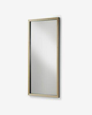 Espejo Enzo de madera maciza de ayous 78 x 178 cm negro