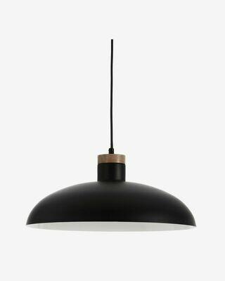 Lámpara de techo Gotram de acero con acabado negro