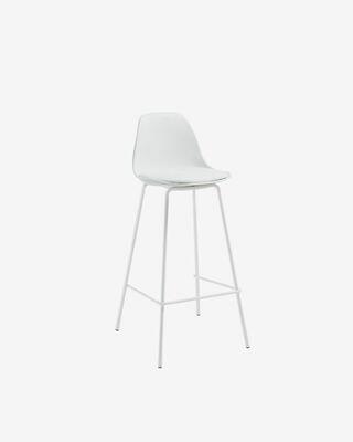 Taburete Brighter blanco altura 65 cm