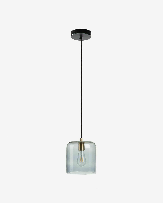 Lámpara de techo Yanna de cristal tintado