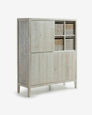 Aparador Words 117 x 140 cm de madera maciza de pino reciclada