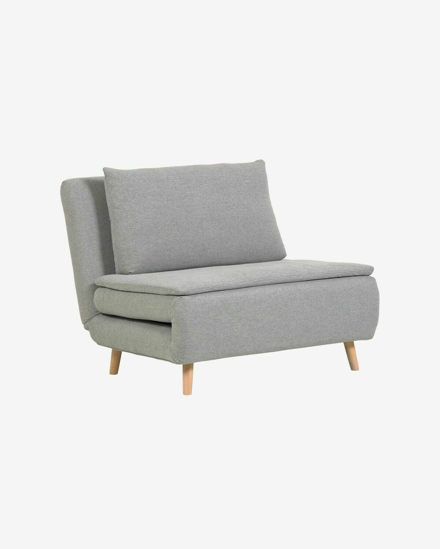 Sofá cama Khina 105 cm gris claro