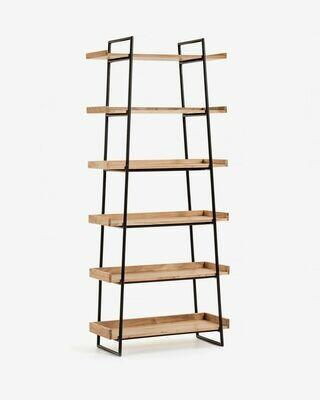 Estantería Basi 80 x 185 cm de madera maciza de acacia