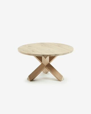 Mesa de centro Lotus Ø 65 cm madera maciza de roble