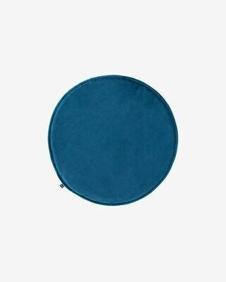 Cojín para silla redondo Rimca terciopelo azul Ø 35 cm