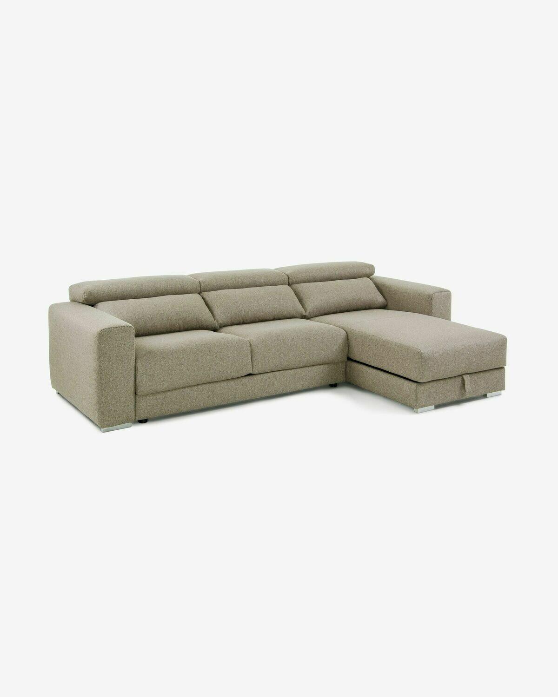Sofá Atlanta 3 plazas chaise longue beige 290 cm
