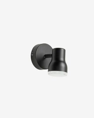 Aplique Tehila de acero con acabado negro
