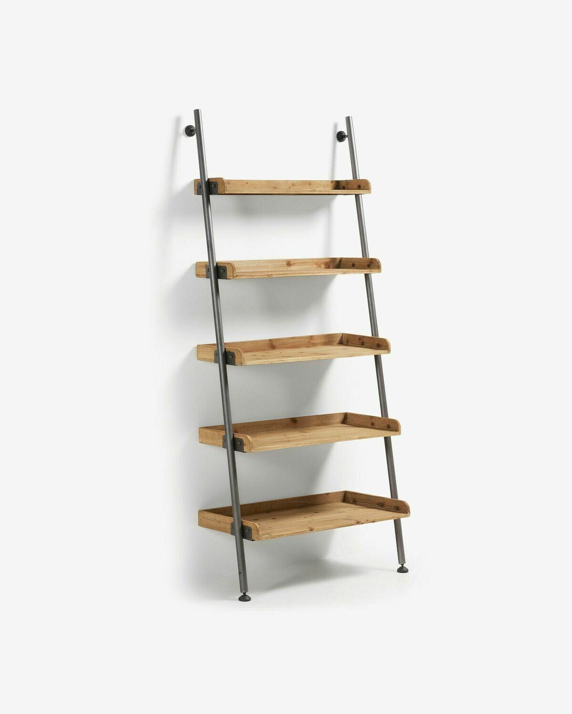 Estantería Mobela 86 x 200 cm de madera maciza de abeto