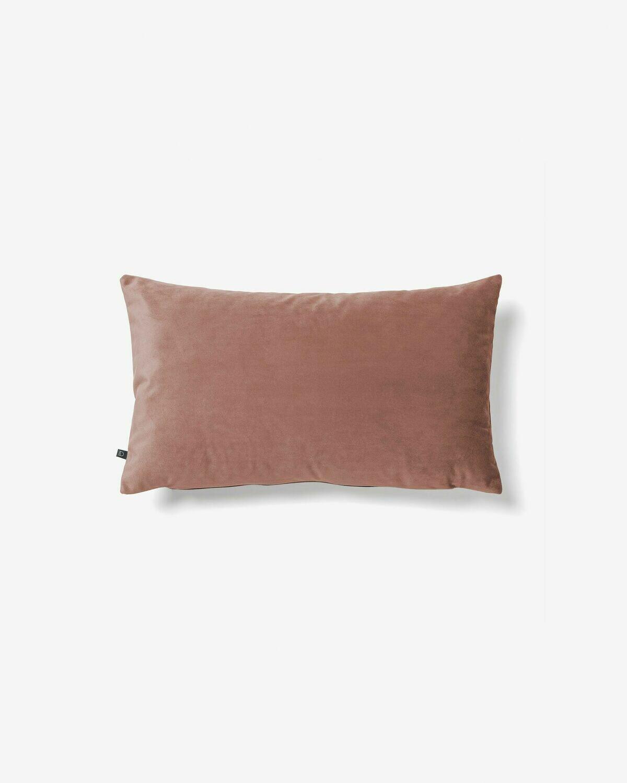 Funda cojín Lita 30 x 50 cm terciopelo rosa