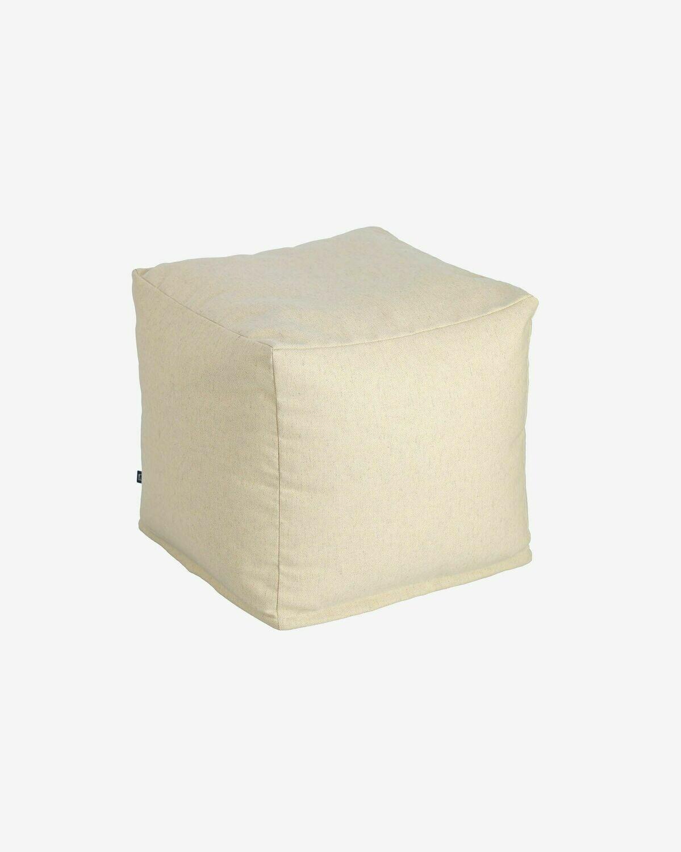 Puf cuadrado Nedra 50 x 50 cm blanco