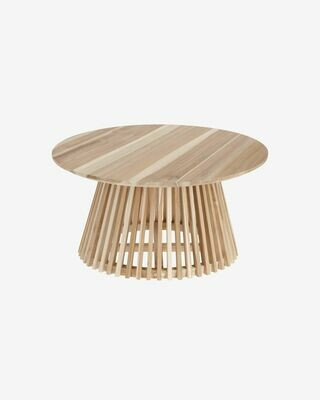 Mesa de centro Jeanette madera maciza de teca Ø 80 cm