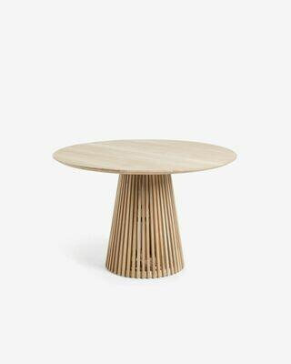 Mesa Jeanette madera maciza de teca Ø 120 cm