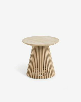 Mesa auxiliar Jeanette madera maciza de teca Ø 50 cm