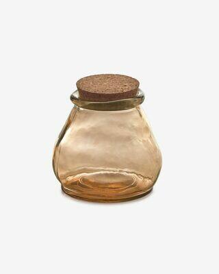 Bote Rohan grande de vidrio marrón 100% reciclado