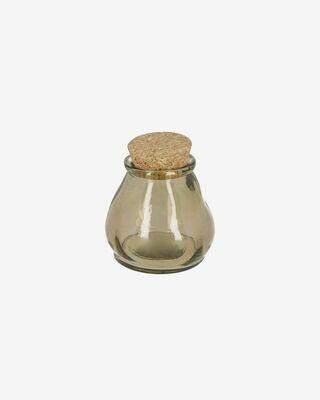 Bote Rohan pequeño de vidrio marrón 100% reciclado