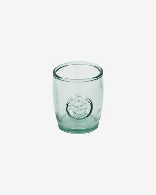 Vaso Tsiande de vidrio transparente 100% reciclado