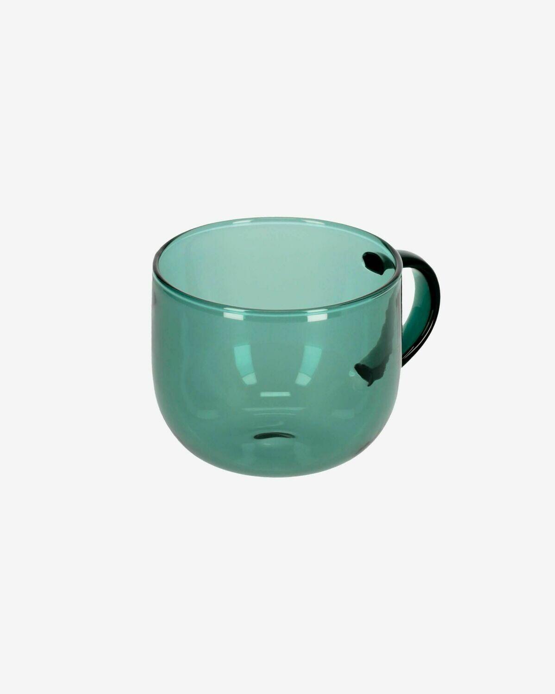 Taza de café Alahi de cristal verde