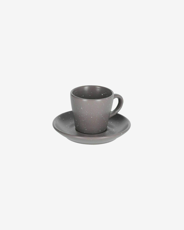Taza de café con plato Aratani gris oscuro
