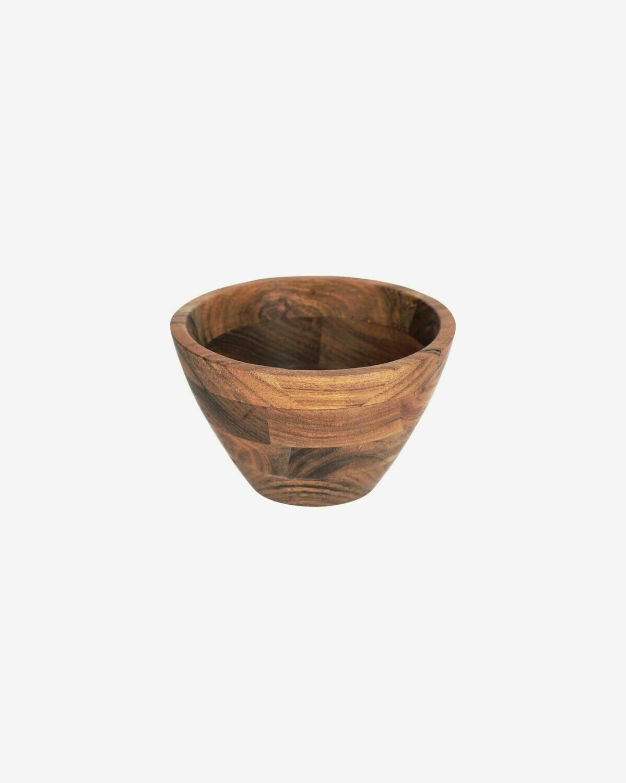 Bol pequeño Dhana madera maciza acacia