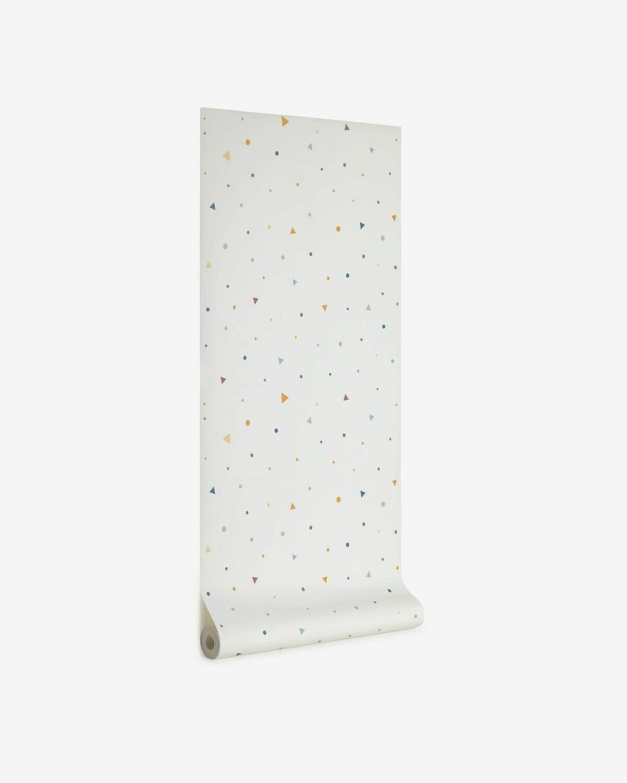 Papel pintado Miris estampado de topos y triángulos multicolor 10 x 0,53 m FSC MIX Credit