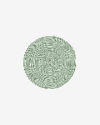Alfombra Rodhe Ø 100 cm verde