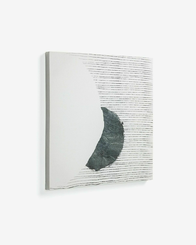 Lienzo grande  Prism 50 x 50 cm fondo gris