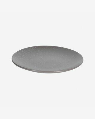 Plato plano Aratani gris oscuro