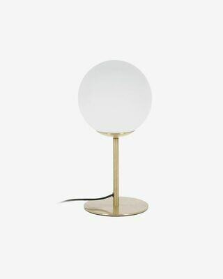 Lámpara de mesa Mahala de acero y cristal glaseado