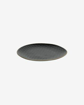 Plato de postre Manami de cerámica negro