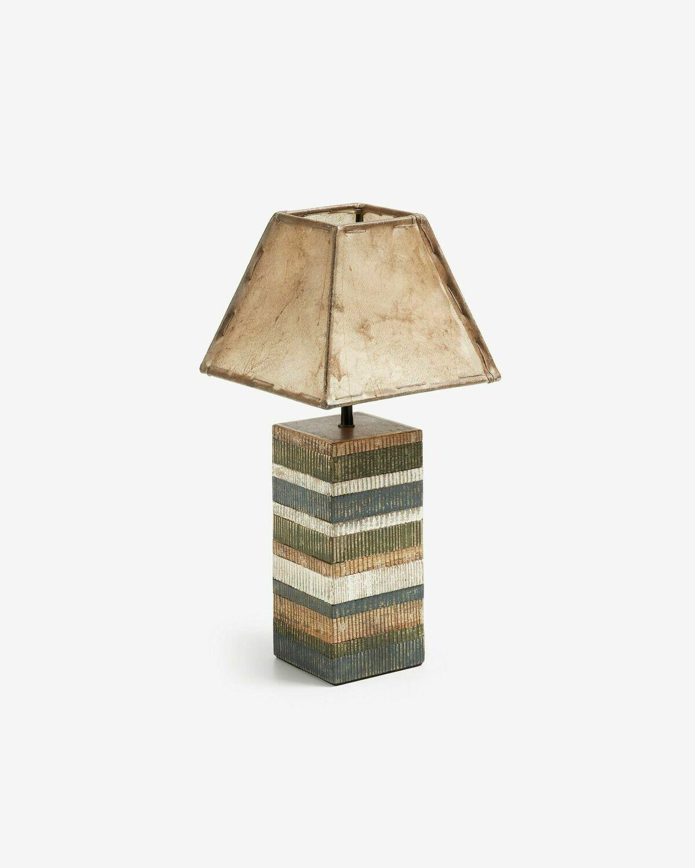 Lámpara de mesa Albero de madera de mango