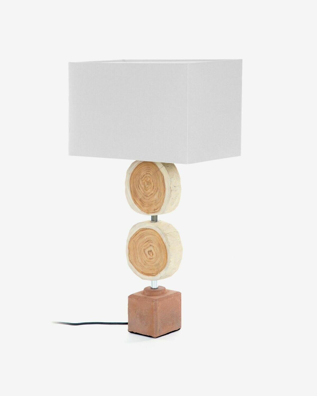 Lámpara de sobremesa Myriad de madera maciza de campano