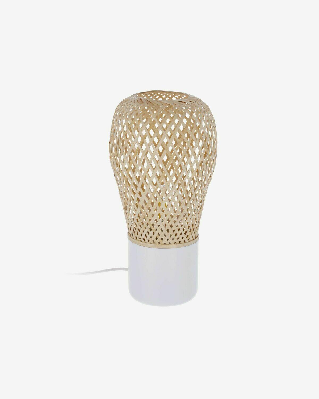 Lámpara de sobremesa Derora de bambú