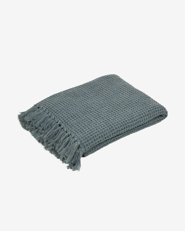 Manta Shallow 100% algodón gris 130 x 70 cm