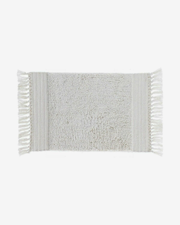 Alfombra de baño Nilce 40 x 60 cm natural