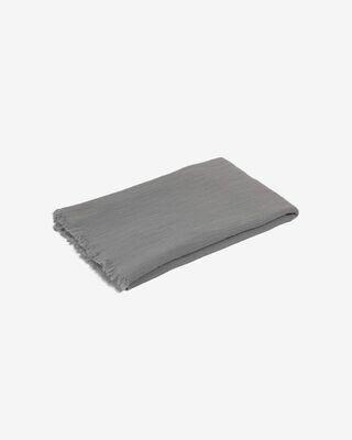 Manta Clarice 100% algodón gris 70 x 100 cm