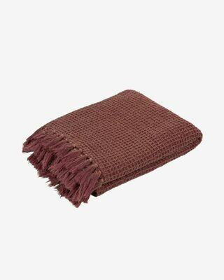 Manta Shallow 100% algodón granate 130 x 70 cm