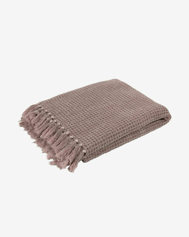 Manta Shallow 100% algodón rosa 130 x 170 cm