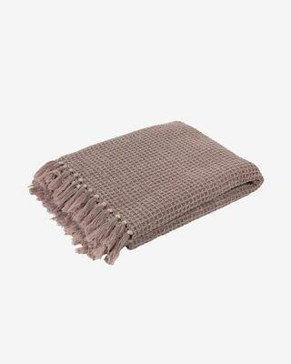 Manta Shallow 100% algodón rosa 130 x 70 cm