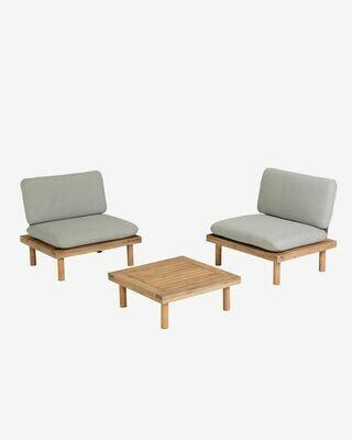 Set Viridis de 2 sillones y 1 mesa FSC 100%